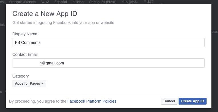 facebook app aanmaken