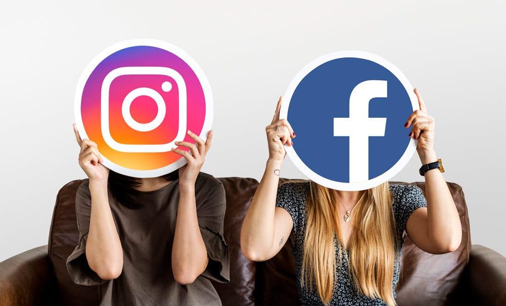 instagram en facebook