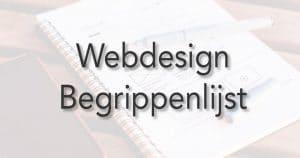 webdesign begrippenlijst