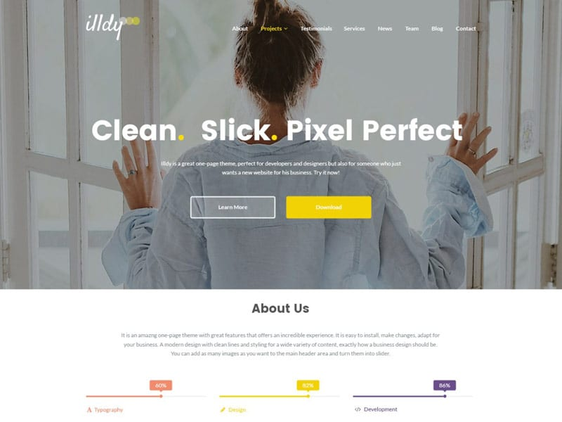 wordpress theme Illdy