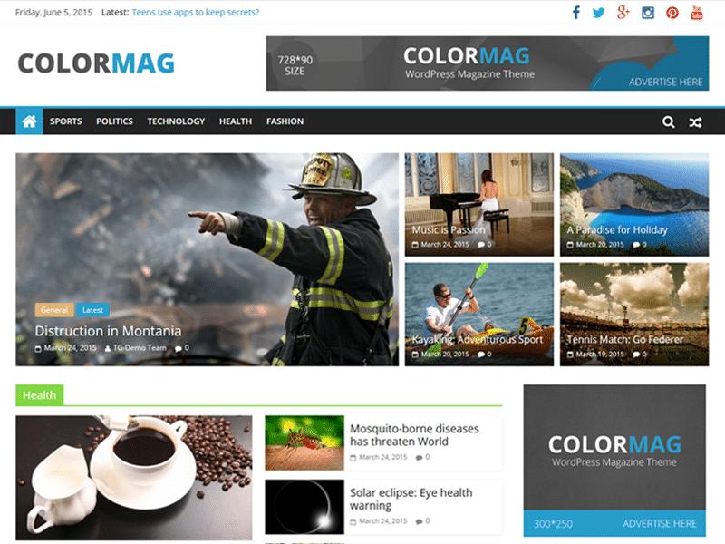 wordpress theme ColorMag