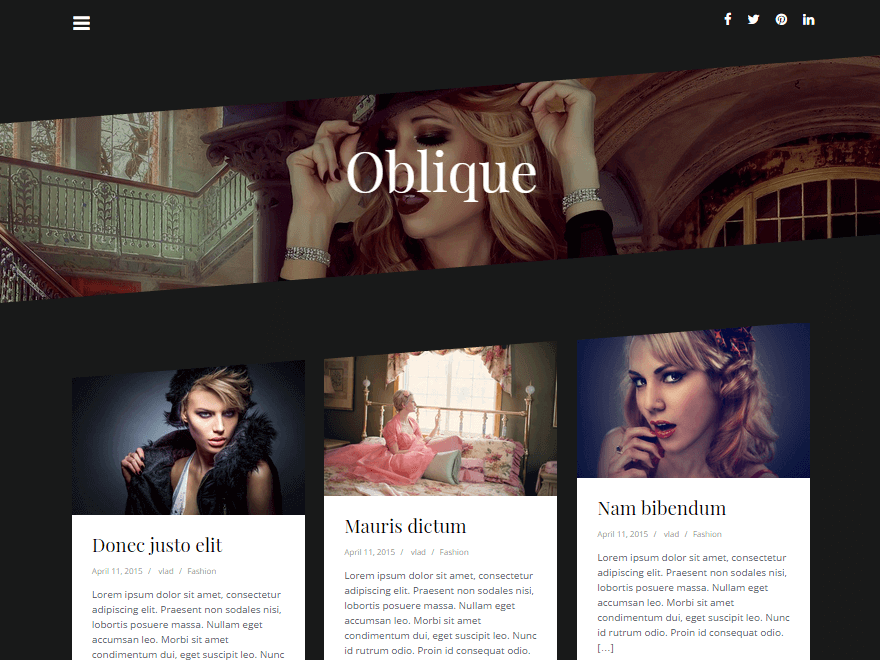 wordpress theme oblique