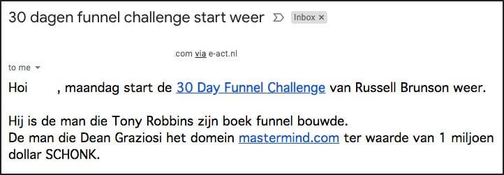 affiliate marketing e-mail