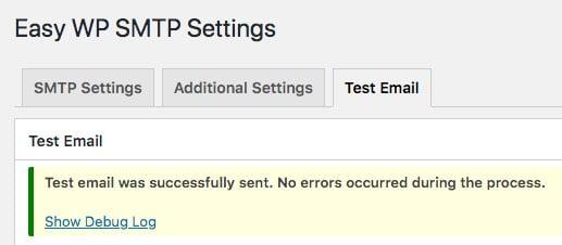 e-mail de test wp smtp facile