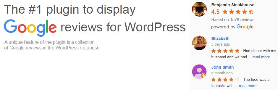 wordpress widget google reviews