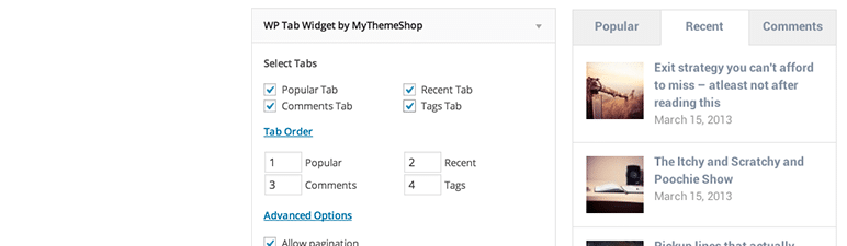 wordpress widget wp tab widget