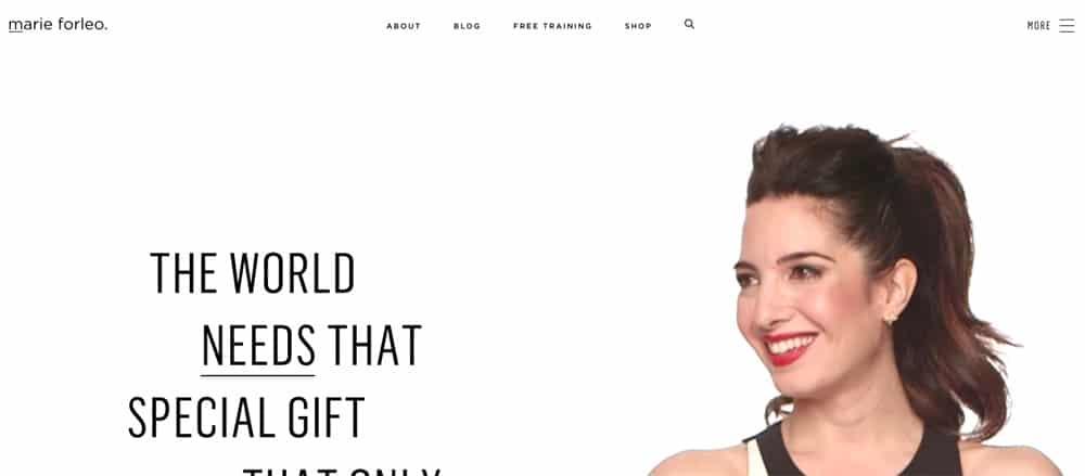 marie forleo website