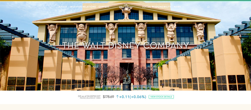 wordpress bedrijfwebsite walt disney