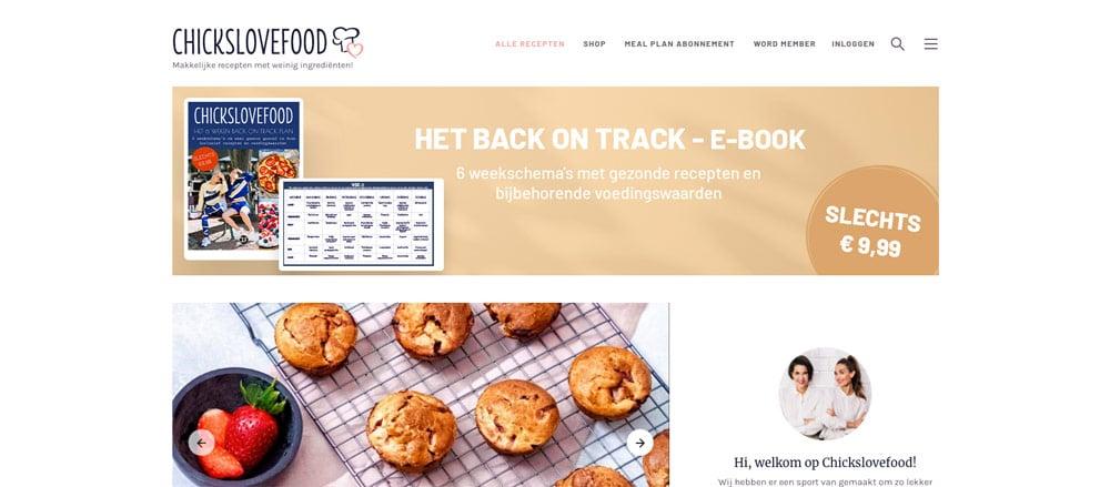 wordpress blog chickslovefood