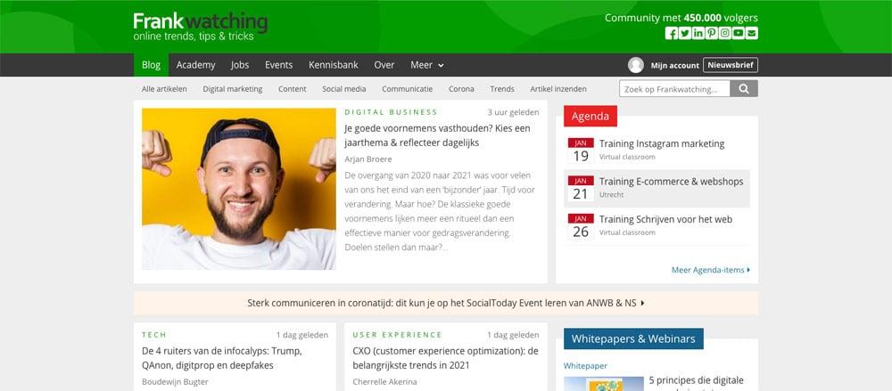 wordpress blog frankwatching