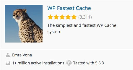plugin de cache wordpress cache le plus rapide wp