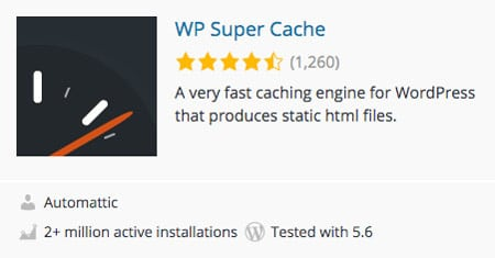 wordpress cache plugin wp super cache