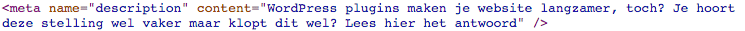 balise meta description html